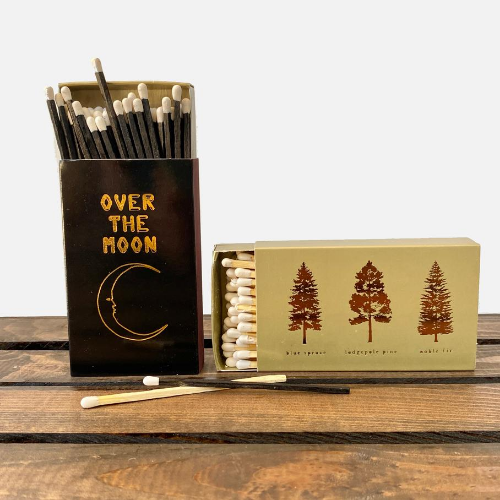 jumbo matchbooks on a table